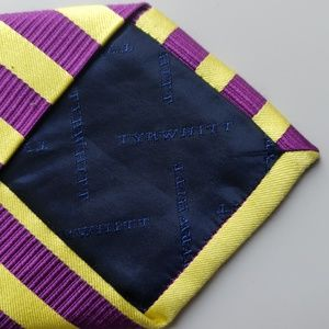 Charles Tyrwhitt Accessories - Charles Tyrwhitt Purple and Yellow Stripe Silk Tie